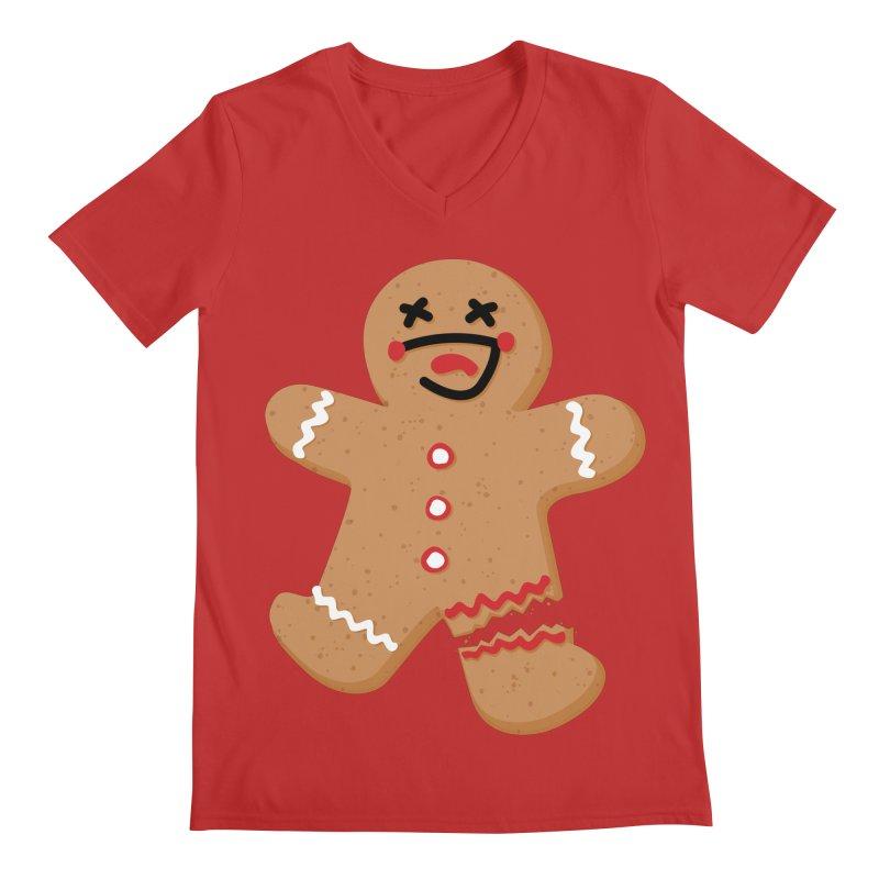 Gingerbread - Oh Snap! Men's Regular V-Neck by Dean Cole Design