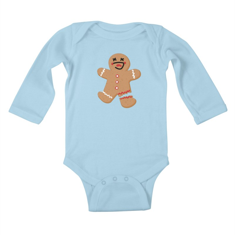 Gingerbread - Oh Snap! Kids Baby Longsleeve Bodysuit by Dean Cole Design