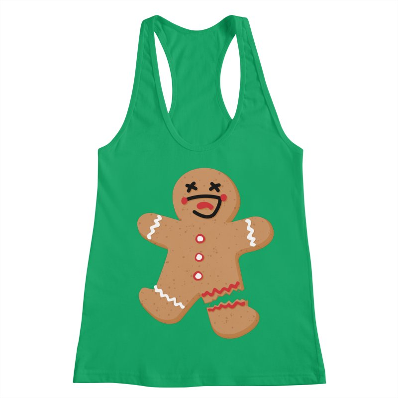 Gingerbread - Oh Snap! Women's Racerback Tank by Dean Cole Design