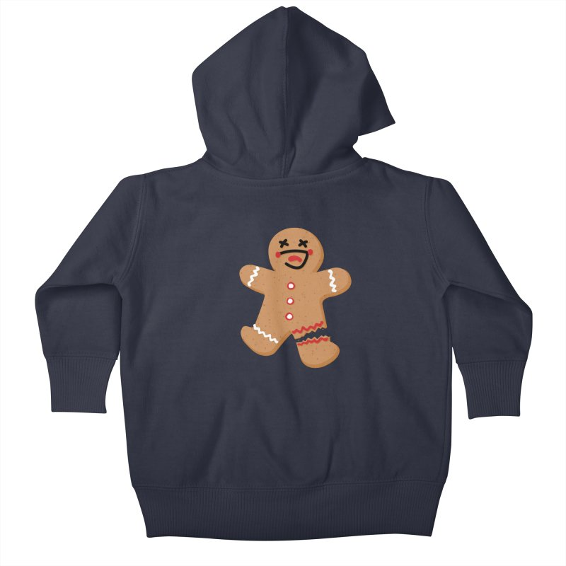 Gingerbread - Oh Snap! Kids Baby Zip-Up Hoody by Dean Cole Design