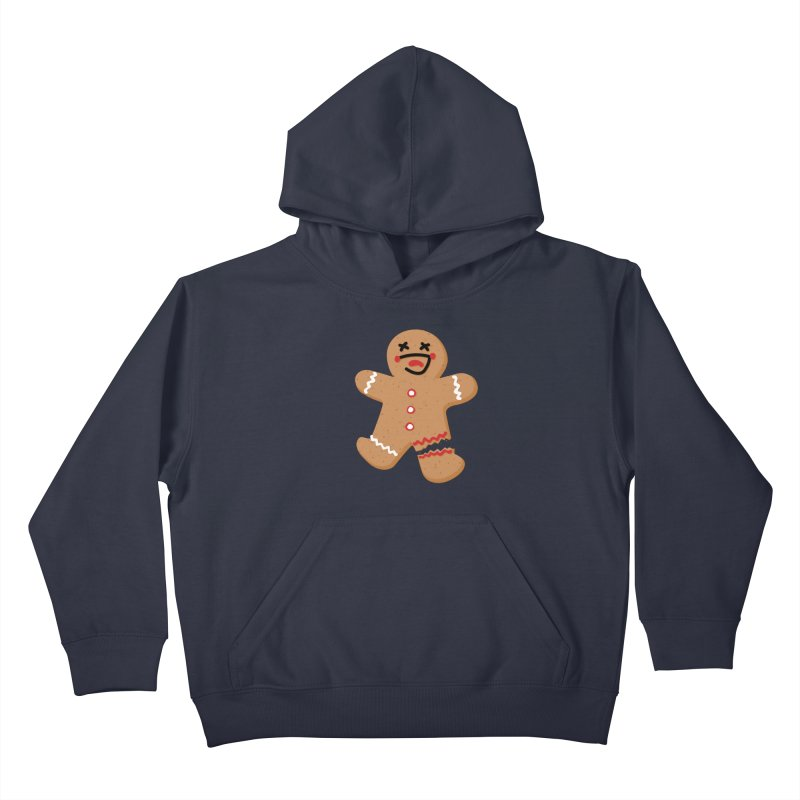 Gingerbread - Oh Snap! Kids Pullover Hoody by Dean Cole Design