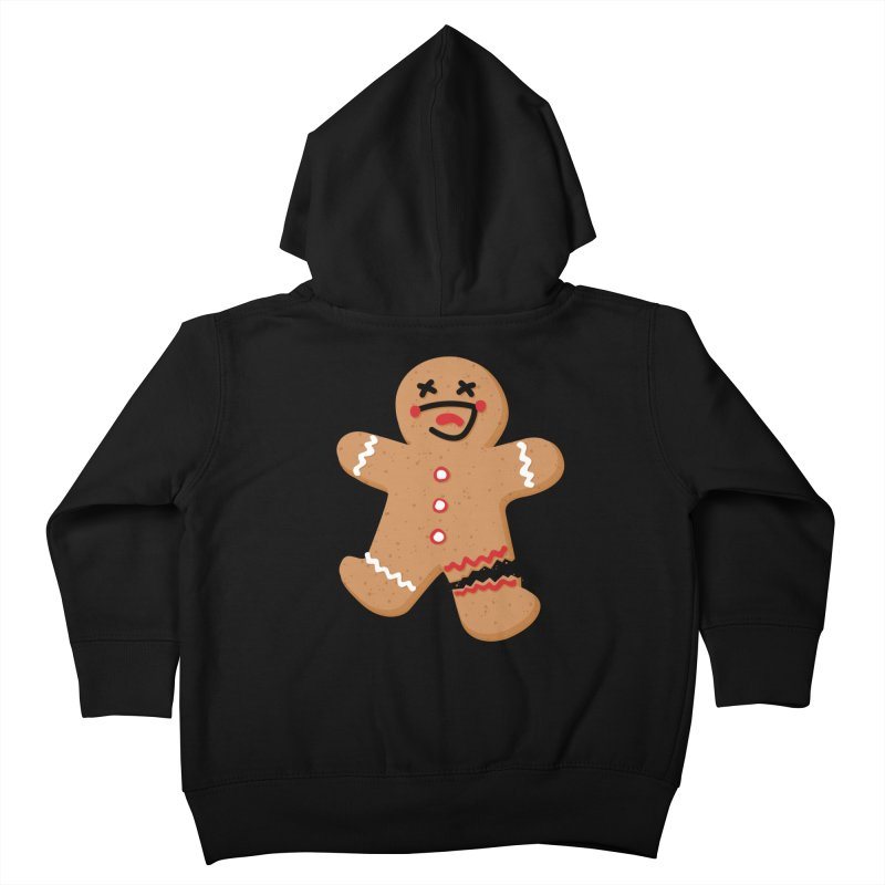 Gingerbread - Oh Snap! Kids Toddler Zip-Up Hoody by Dean Cole Design