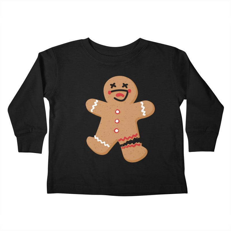 Gingerbread - Oh Snap! Kids Toddler Longsleeve T-Shirt by Dean Cole Design