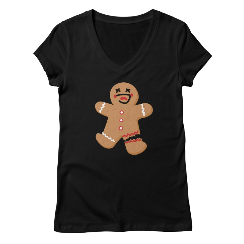 Gingerbread - Oh Snap! Women's V-Neck by Dean Cole Design
