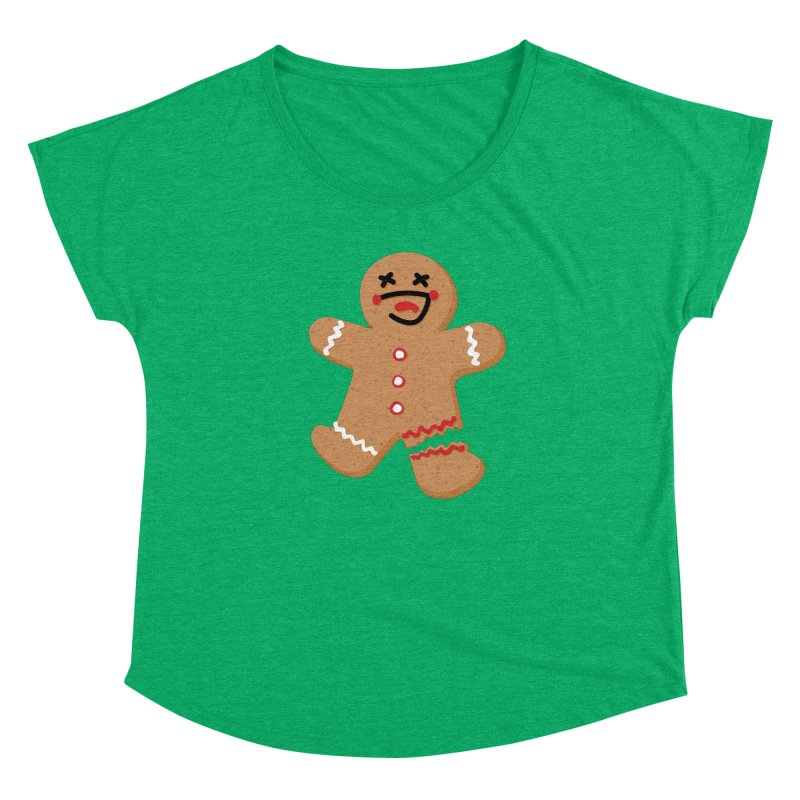 Gingerbread - Oh Snap! Women's Dolman Scoop Neck by Dean Cole Design