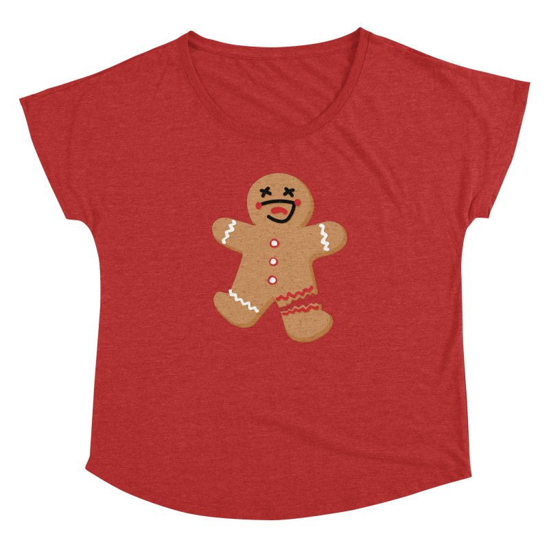 Gingerbread - Oh Snap! Women's Dolman Scoop Neck by Dean Cole Design