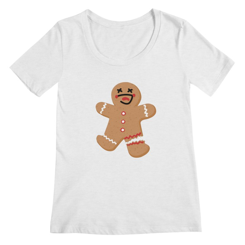 Gingerbread - Oh Snap! Women's Scoop Neck by Dean Cole Design