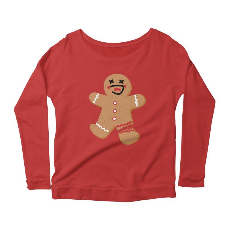 Gingerbread - Oh Snap! Women's Scoop Neck Longsleeve T-Shirt by Dean Cole Design