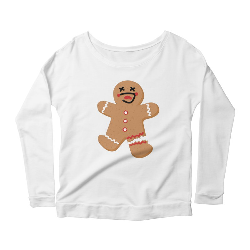Gingerbread - Oh Snap! Women's Scoop Neck Longsleeve T-Shirt by Dean Cole Design