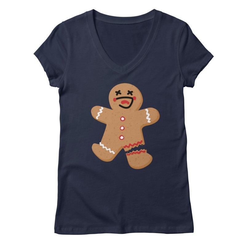 Gingerbread - Oh Snap! Women's Regular V-Neck by Dean Cole Design