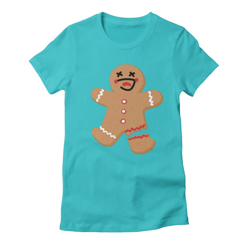Gingerbread - Oh Snap! Women's Fitted T-Shirt by Dean Cole Design