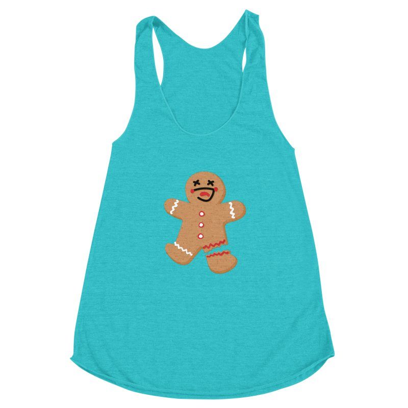 Gingerbread - Oh Snap! Women's Racerback Triblend Tank by Dean Cole Design