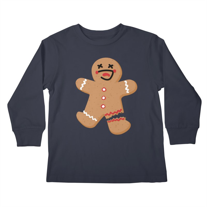 Gingerbread - Oh Snap! Kids Longsleeve T-Shirt by Dean Cole Design