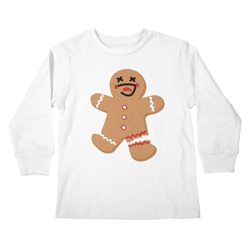 Gingerbread - Oh Snap! Kids Longsleeve T-Shirt by Dean Cole Design