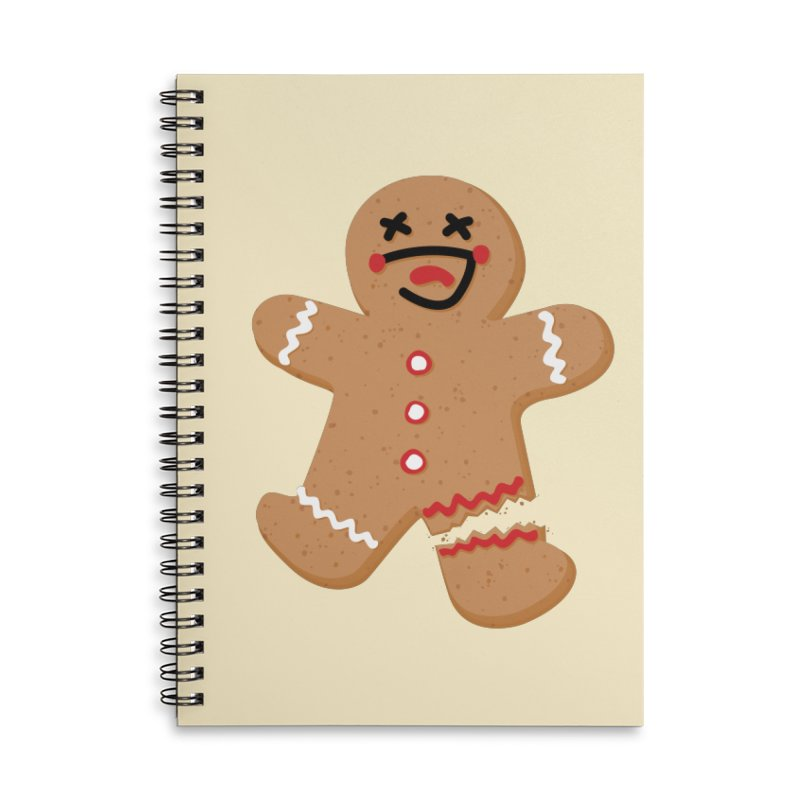 Gingerbread - Oh Snap! Accessories Lined Spiral Notebook by Dean Cole Design