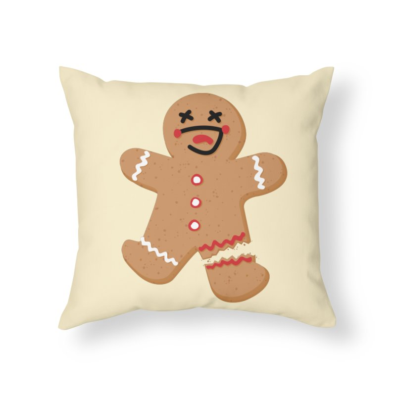 Gingerbread - Oh Snap! Home Throw Pillow by Dean Cole Design