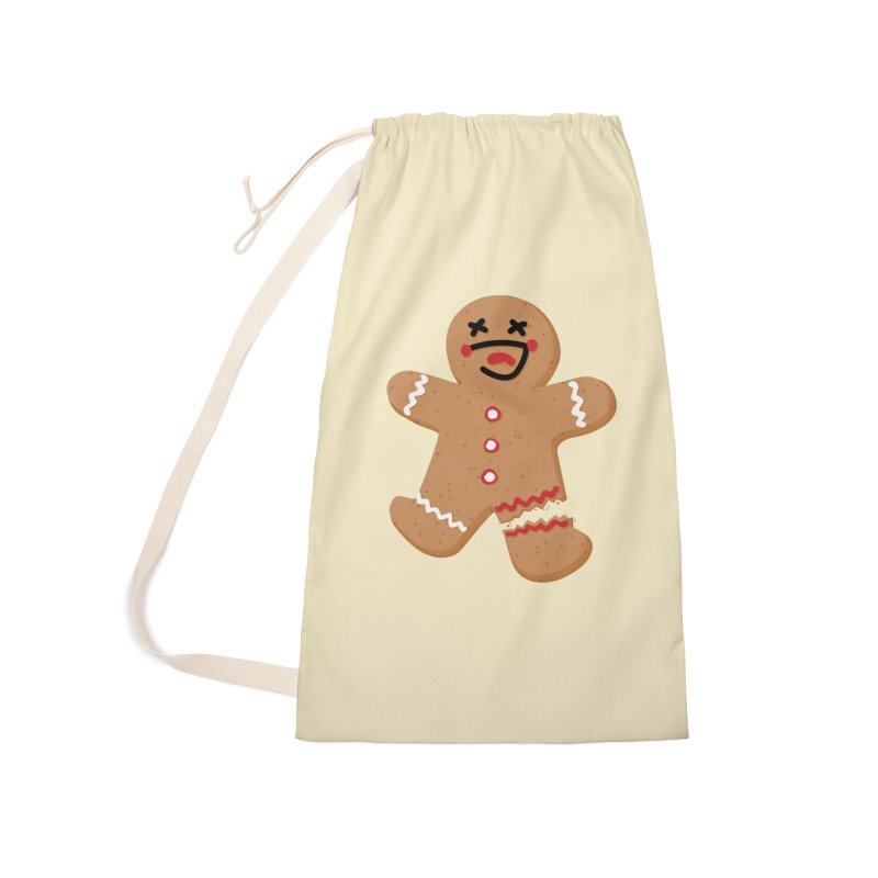 Gingerbread - Oh Snap! Accessories Laundry Bag Bag by Dean Cole Design