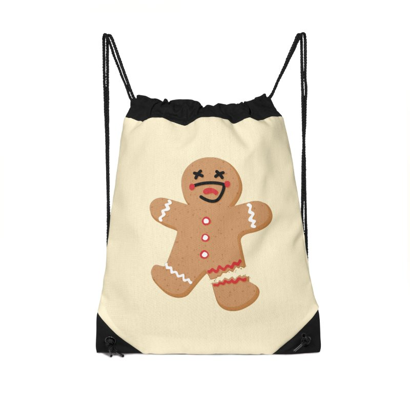 Gingerbread - Oh Snap! Accessories Drawstring Bag Bag by Dean Cole Design