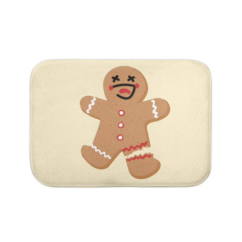 Gingerbread - Oh Snap! Home Bath Mat by Dean Cole Design