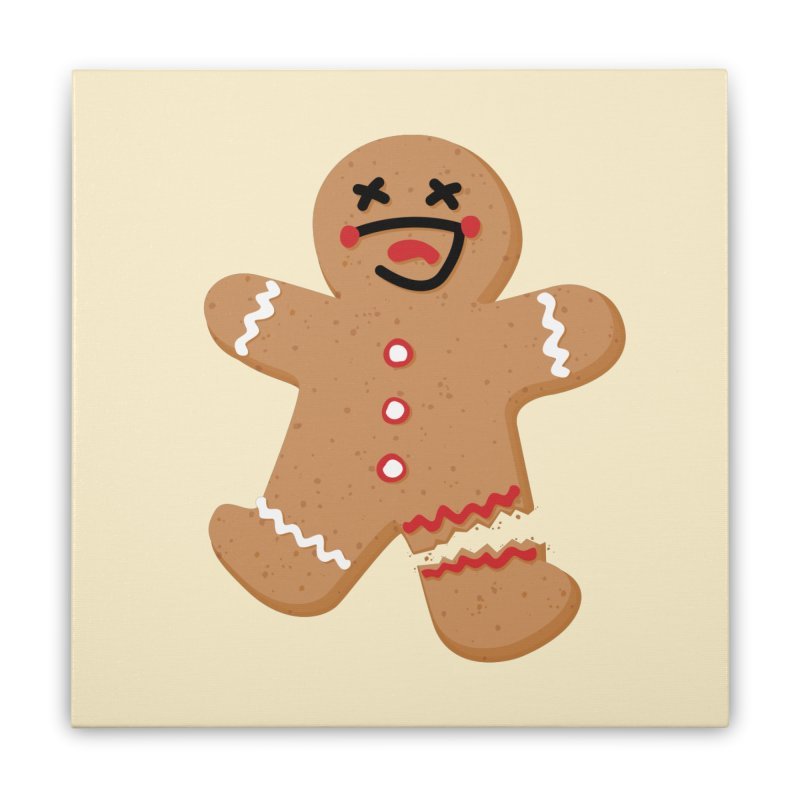 Gingerbread - Oh Snap! Home Stretched Canvas by Dean Cole Design