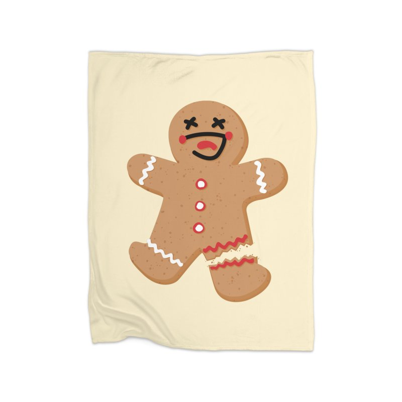 Gingerbread - Oh Snap! Home Fleece Blanket Blanket by Dean Cole Design