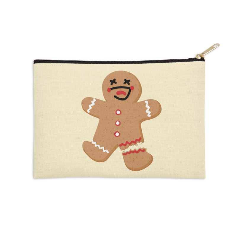 Gingerbread - Oh Snap! Accessories Zip Pouch by Dean Cole Design