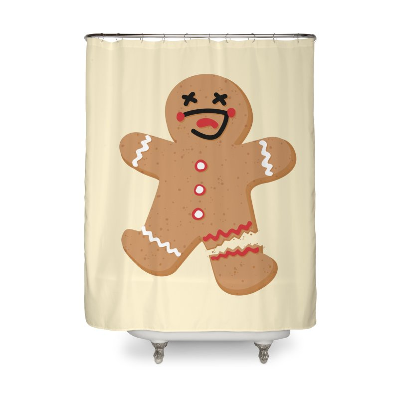 Gingerbread - Oh Snap! Home Shower Curtain by Dean Cole Design