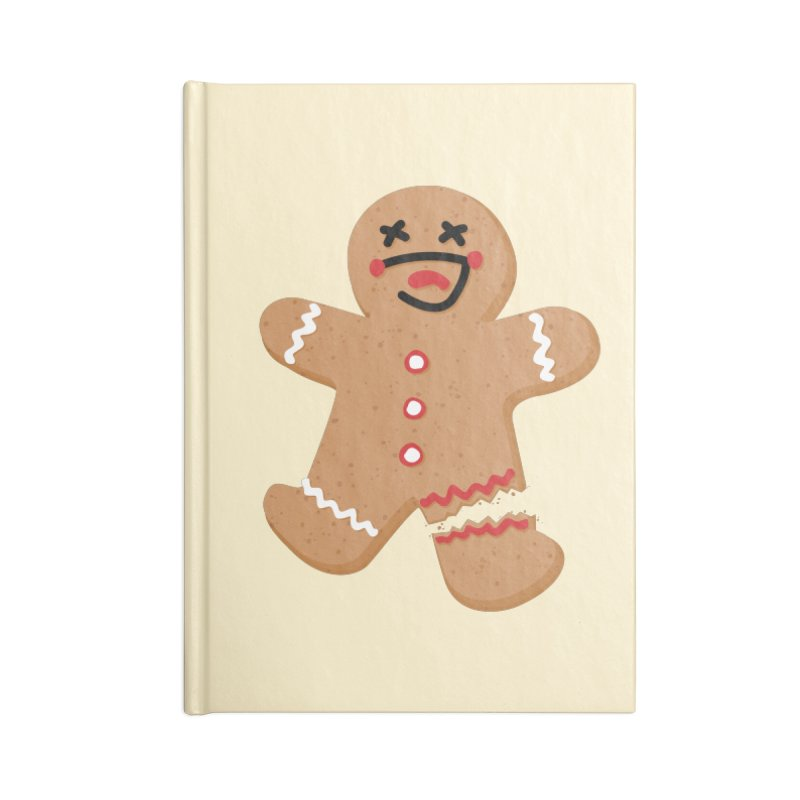 Gingerbread - Oh Snap! Accessories Blank Journal Notebook by Dean Cole Design