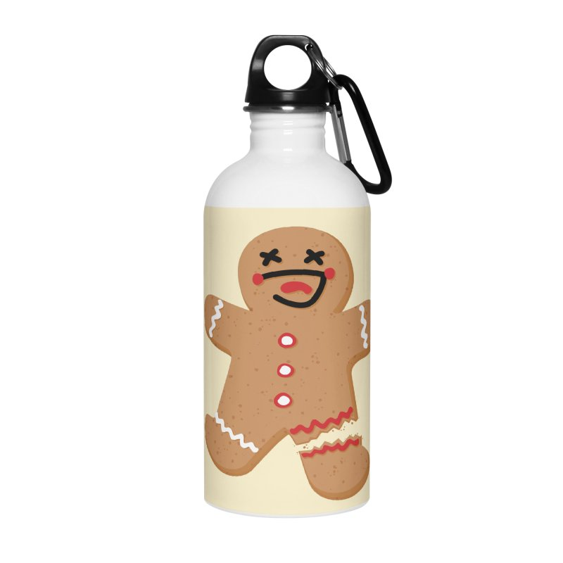 Gingerbread - Oh Snap! Accessories Water Bottle by Dean Cole Design