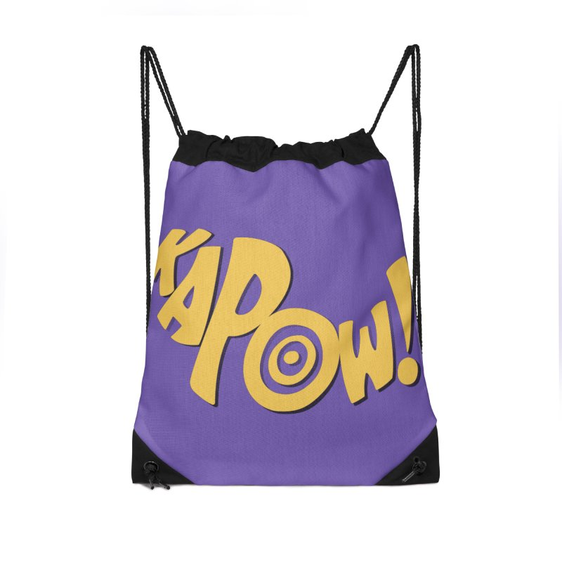 KaPow! Comic Book Sound Effect Accessories Drawstring Bag Bag by Dean Cole Design