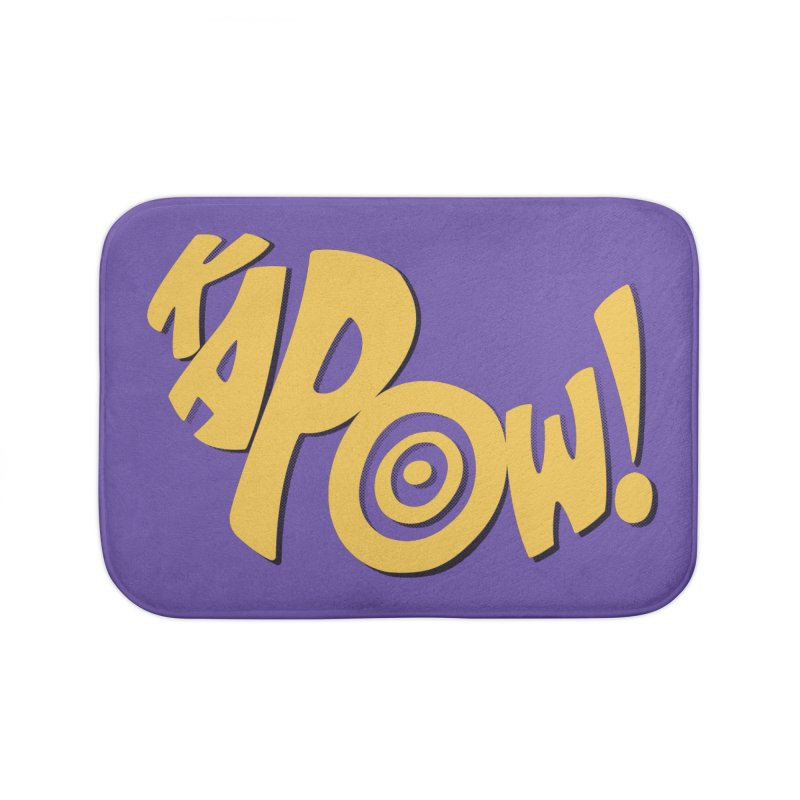 KaPow! Comic Book Sound Effect Home Bath Mat by Dean Cole Design