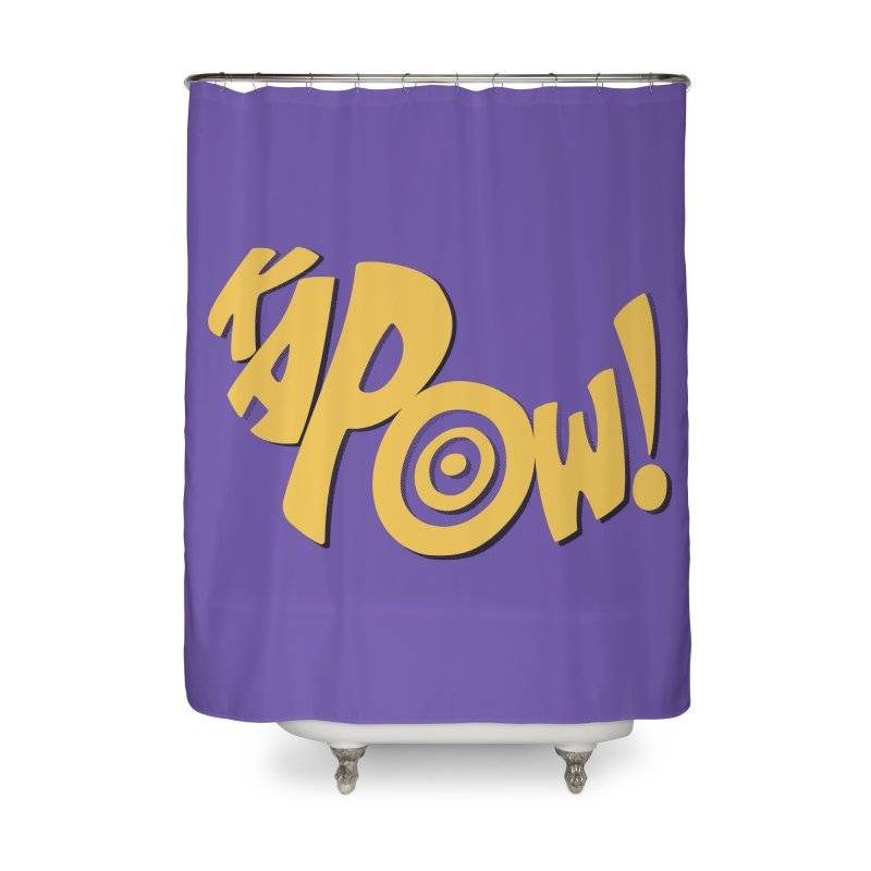 KaPow! Comic Book Sound Effect Home Shower Curtain by Dean Cole Design