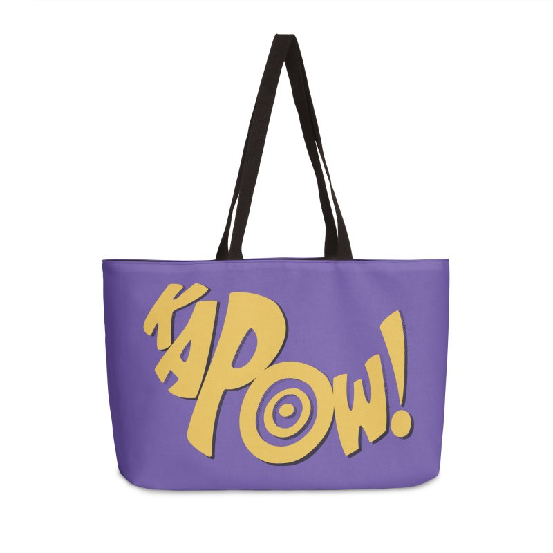 KaPow! Comic Book Sound Effect Accessories Weekender Bag Bag by Dean Cole Design