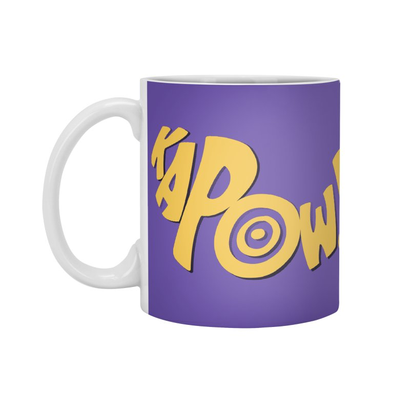 KaPow! Comic Book Sound Effect Accessories Standard Mug by Dean Cole Design
