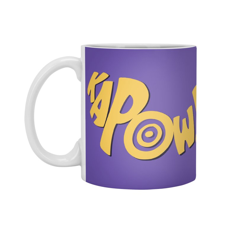 KaPow! Comic Book Sound Effect Accessories Mug by Dean Cole Design