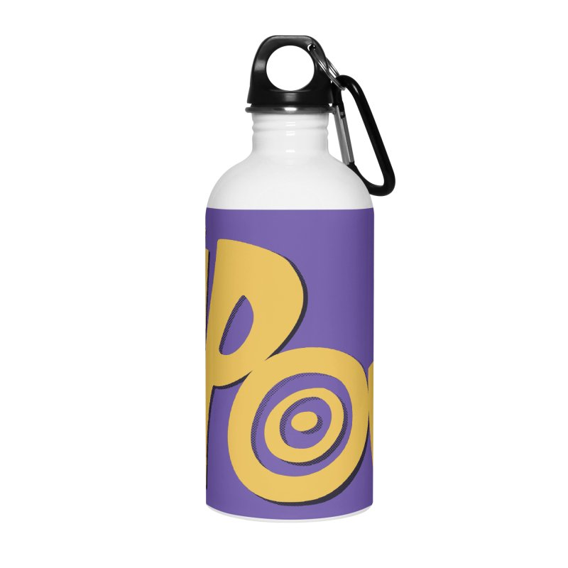 KaPow! Comic Book Sound Effect Accessories Water Bottle by Dean Cole Design