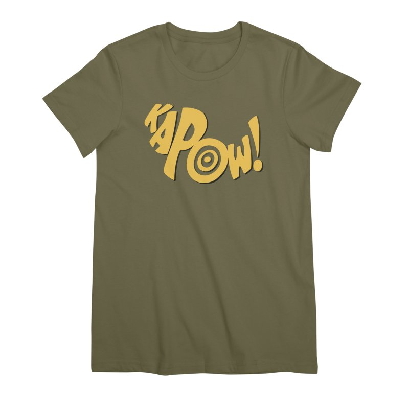 KaPow! Comic Book Sound Effect Women's Premium T-Shirt by Dean Cole Design