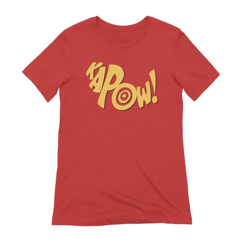 KaPow! Comic Book Sound Effect Women's Extra Soft T-Shirt by Dean Cole Design