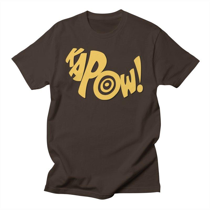 KaPow! Comic Book Sound Effect Men's T-Shirt by Dean Cole Design