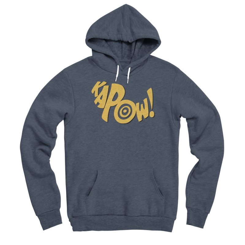 KaPow! Comic Book Sound Effect Men's Sponge Fleece Pullover Hoody by Dean Cole Design