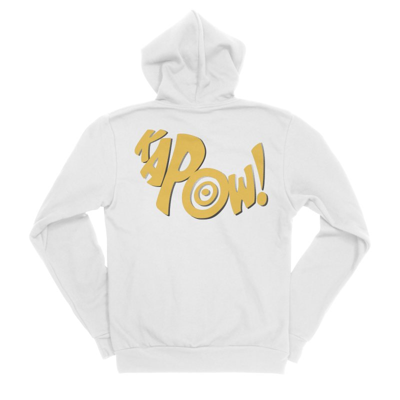 KaPow! Comic Book Sound Effect Women's Zip-Up Hoody by Dean Cole Design