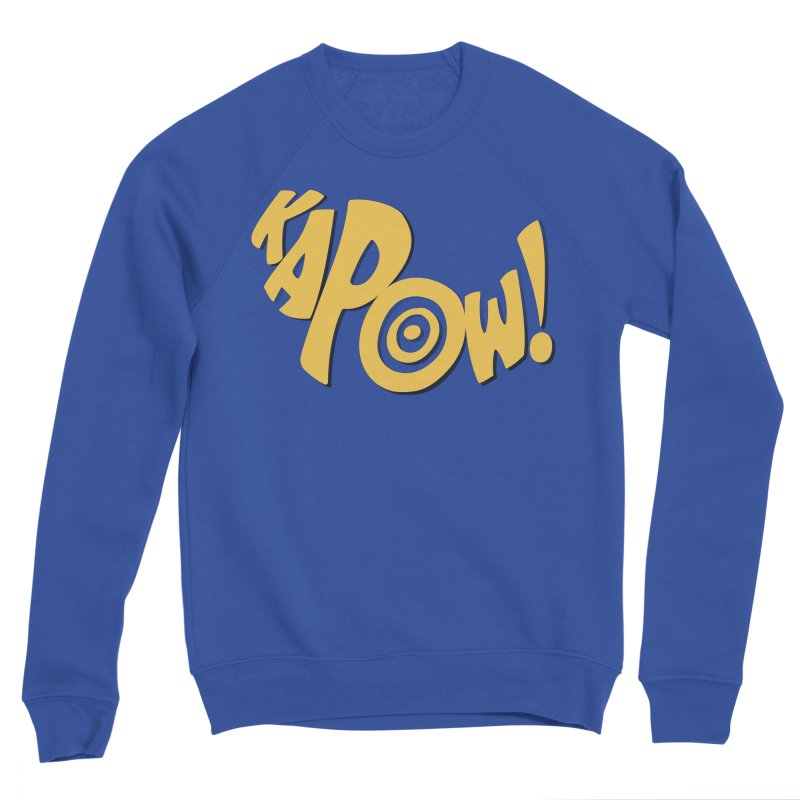 KaPow! Comic Book Sound Effect Men's Sponge Fleece Sweatshirt by Dean Cole Design