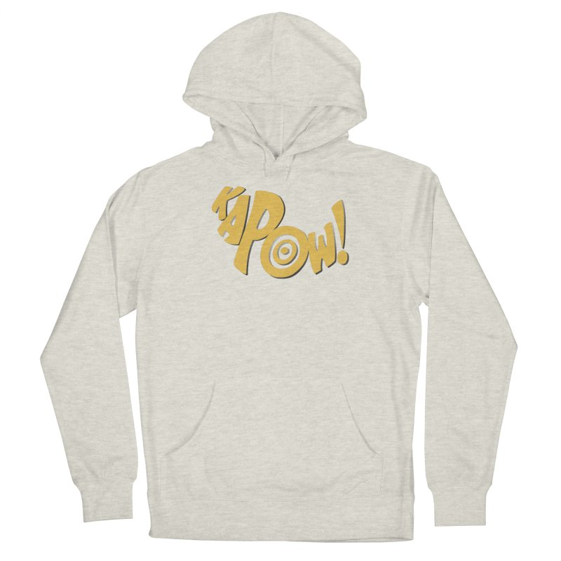 KaPow! Comic Book Sound Effect Women's French Terry Pullover Hoody by Dean Cole Design