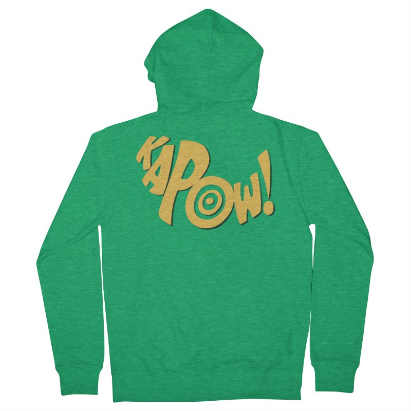 KaPow! Comic Book Sound Effect Men's Zip-Up Hoody by Dean Cole Design