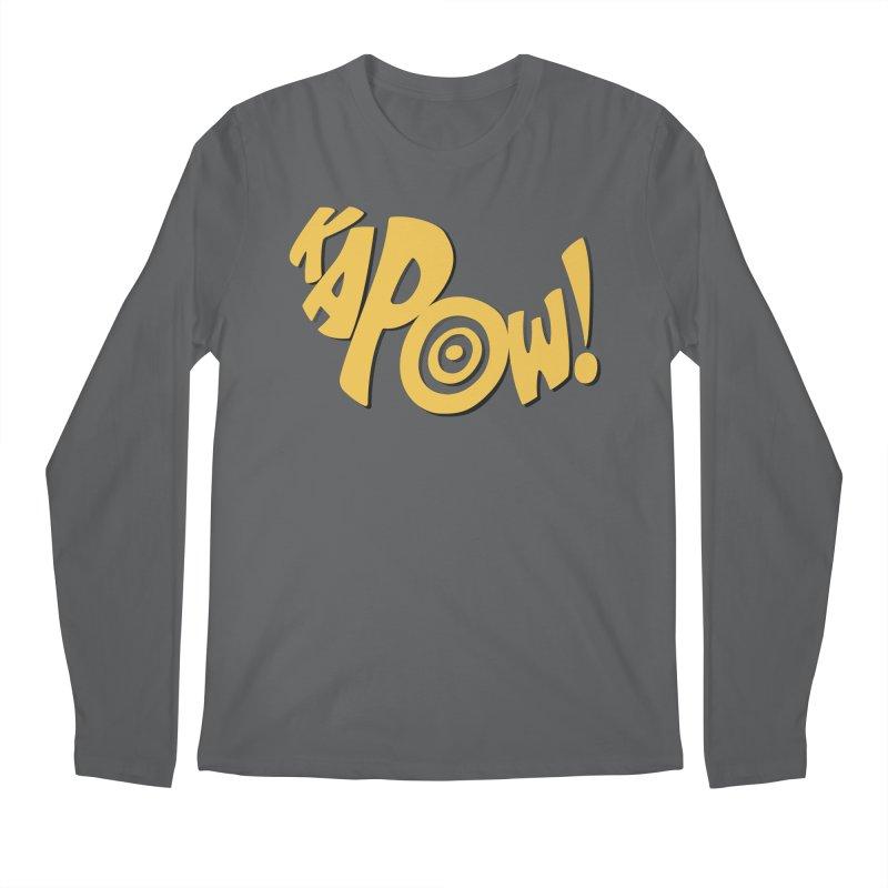 KaPow! Comic Book Sound Effect Men's Longsleeve T-Shirt by Dean Cole Design