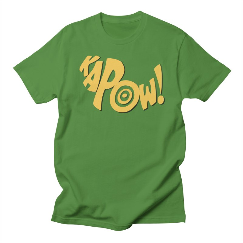 KaPow! Comic Book Sound Effect Women's Regular Unisex T-Shirt by Dean Cole Design