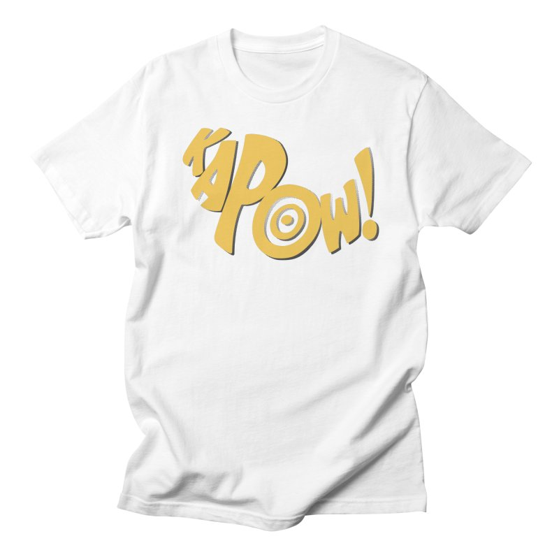 KaPow! Comic Book Sound Effect Men's Regular T-Shirt by Dean Cole Design