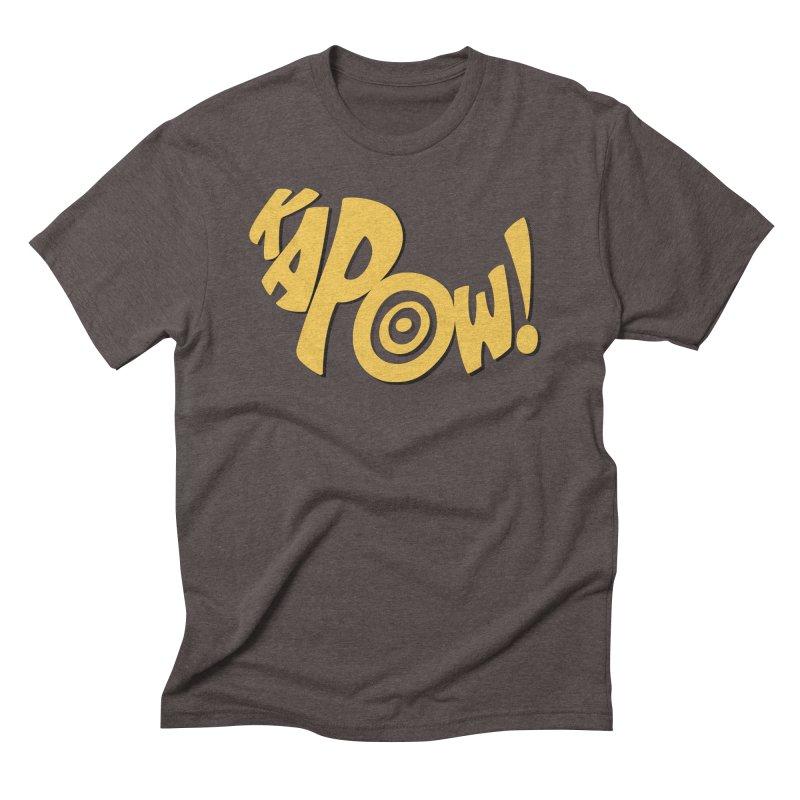 KaPow! Comic Book Sound Effect Men's Triblend T-Shirt by Dean Cole Design