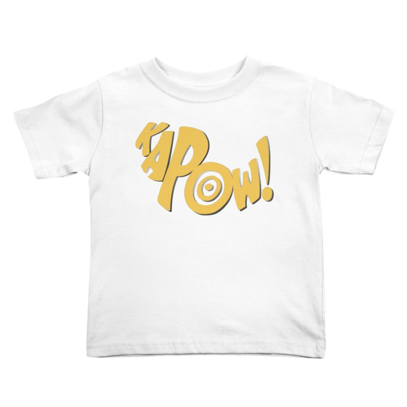 KaPow! Comic Book Sound Effect Kids Toddler T-Shirt by Dean Cole Design