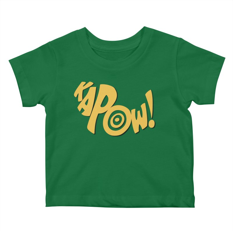 KaPow! Comic Book Sound Effect Kids Baby T-Shirt by Dean Cole Design